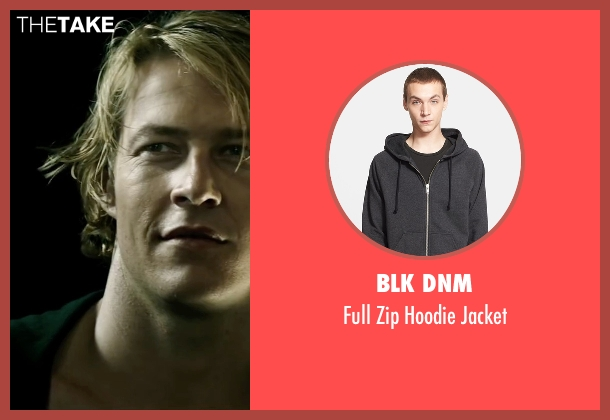Blk Dnm gray jacket from Point Break seen with Luke Bracey (Johnny Utah)