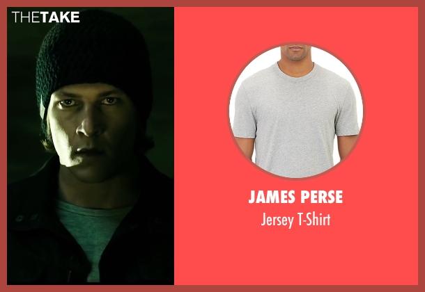 James Perse gray t-shirt from Point Break seen with Luke Bracey (Johnny Utah)