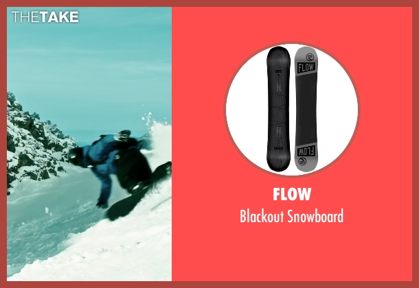 Flow snowboard from Point Break seen with Luke Bracey (Johnny Utah)