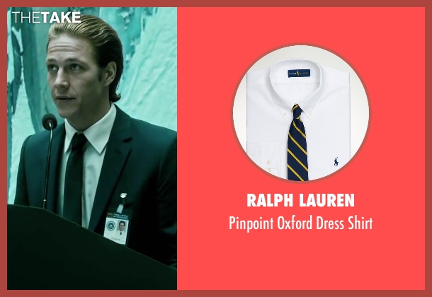Ralph Lauren white shirt from Point Break seen with Luke Bracey (Johnny Utah)