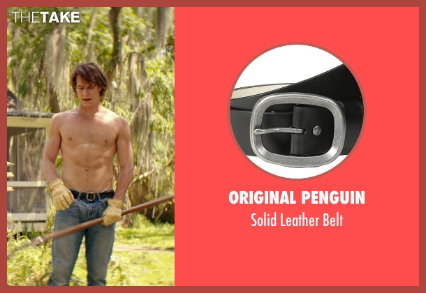 Original Penguin black belt from The Best of Me seen with Luke Bracey (Young Dawson)