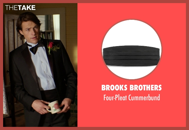Brooks Brothers black cummerbund from The Best of Me seen with Luke Bracey (Younger Dawson)