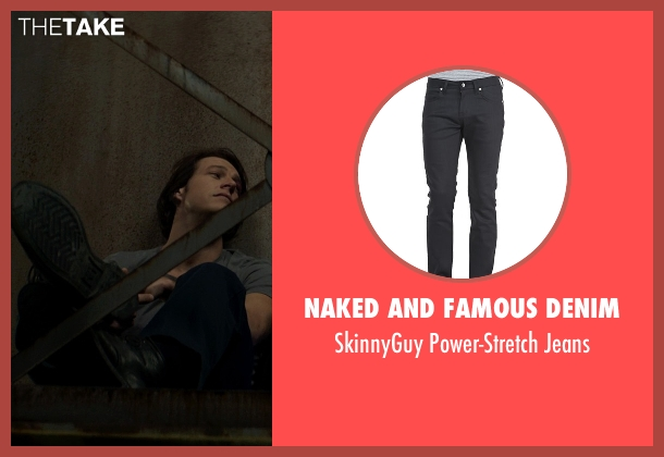Naked and Famous Denim	 black jeans from The Best of Me seen with Luke Bracey (Young Dawson)