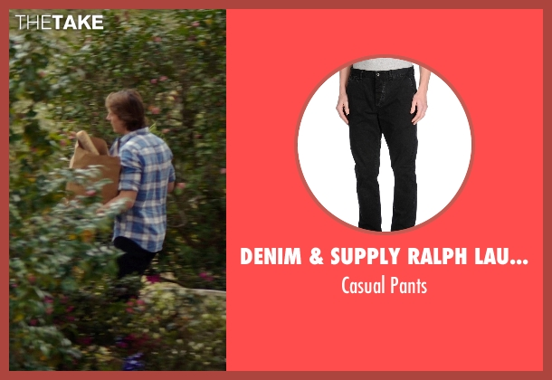 Denim & Supply Ralph Lauren black pants from The Best of Me seen with Luke Bracey (Younger Dawson)