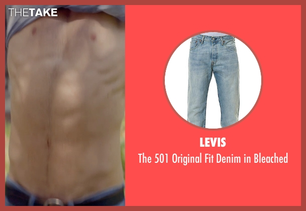 Levis blue bleached from The Best of Me seen with Luke Bracey (Young Dawson)