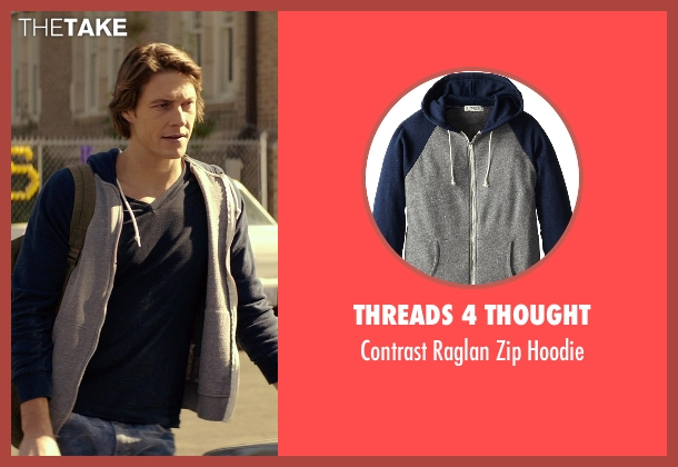 Threads 4 Thought blue hoodie from The Best of Me seen with Luke Bracey (Young Dawson)