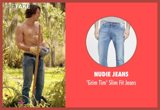 Nudie Jeans blue jeans from The Best of Me seen with Luke Bracey (Young Dawson)