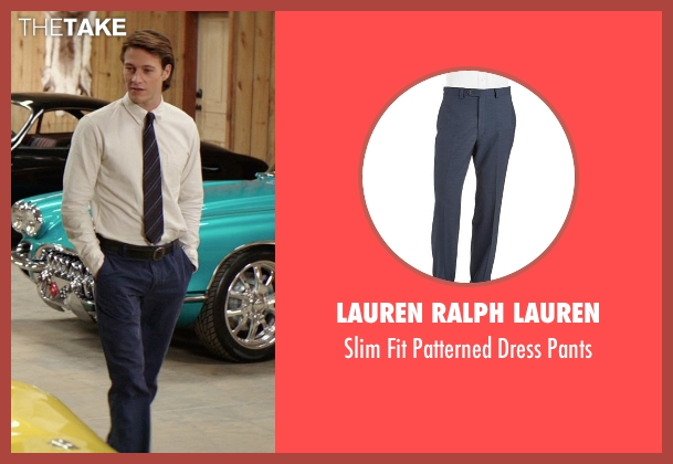 Lauren Ralph Lauren blue pants from The Best of Me seen with Luke Bracey (Young Dawson)