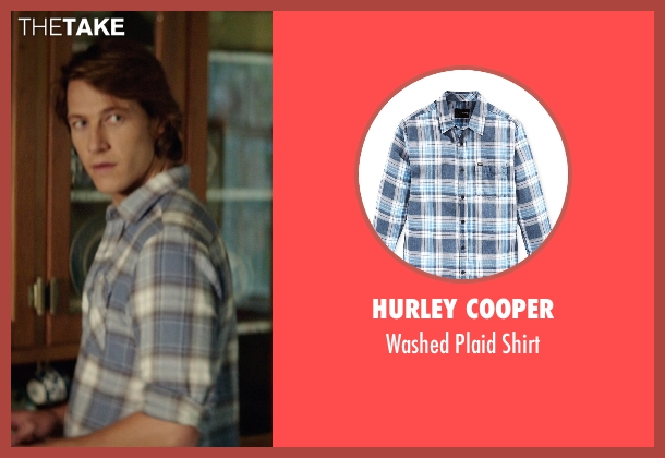 Hurley Cooper blue shirt from The Best of Me seen with Luke Bracey (Younger Dawson)