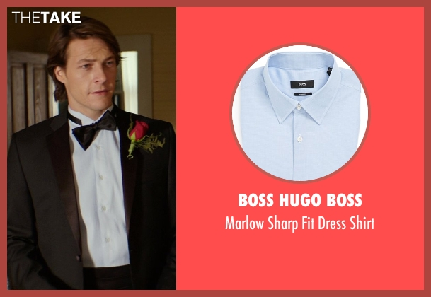 Boss Hugo Boss blue shirt from The Best of Me seen with Luke Bracey (Younger Dawson)