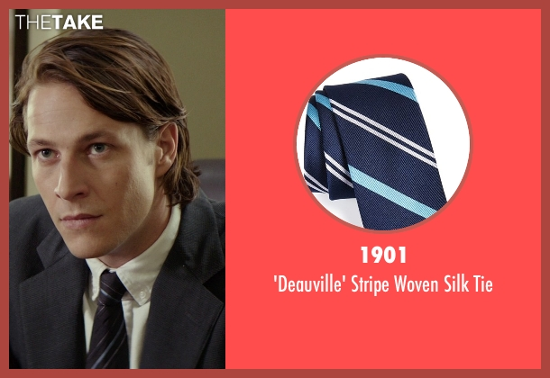 1901 blue tie from The Best of Me seen with Luke Bracey (Younger Dawson)