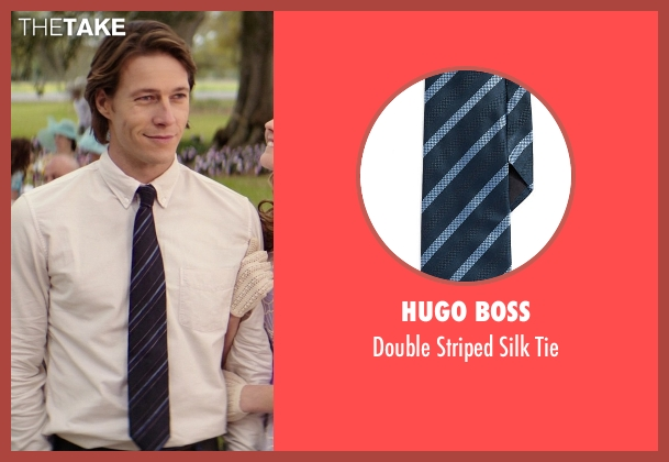 Hugo Boss blue tie from The Best of Me seen with Luke Bracey (Young Dawson)