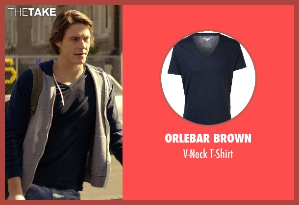Orlebar Brown blue t-shirt from The Best of Me seen with Luke Bracey (Young Dawson)