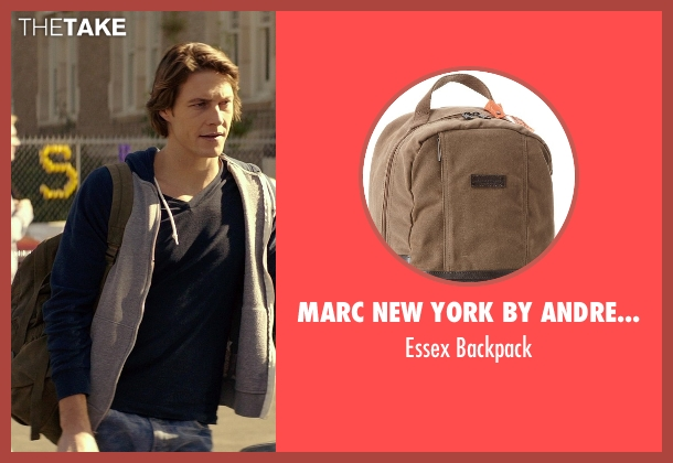 Marc New York by Andrew Marc brown backpack from The Best of Me seen with Luke Bracey (Young Dawson)