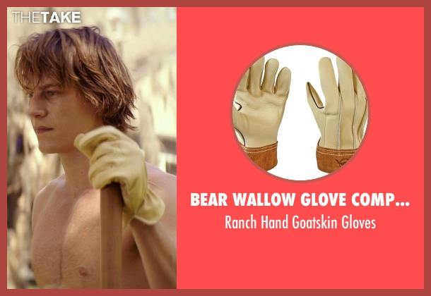 Bear Wallow Glove Company brown gloves from The Best of Me seen with Luke Bracey (Younger Dawson)