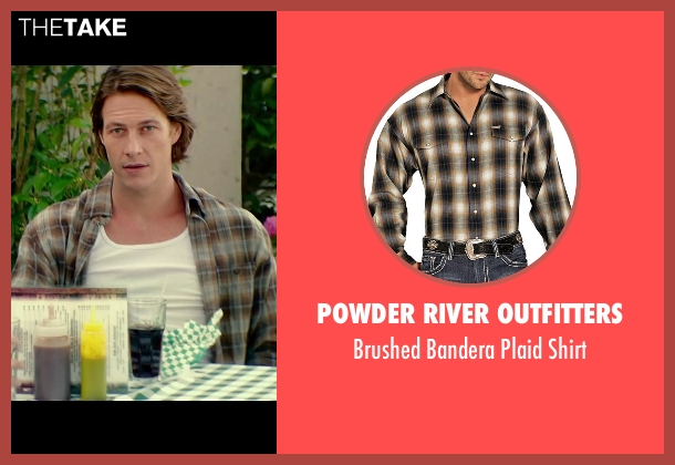 Powder River Outfitters brown shirt from The Best of Me seen with Luke Bracey (Young Dawson)