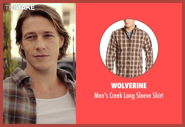 Wolverine brown shirt from The Best of Me seen with Liana Liberato (Young Amanda)
