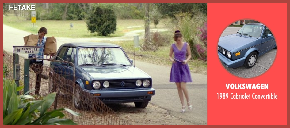 Volkswagen convertible from The Best of Me seen with Luke Bracey (Younger Dawson)