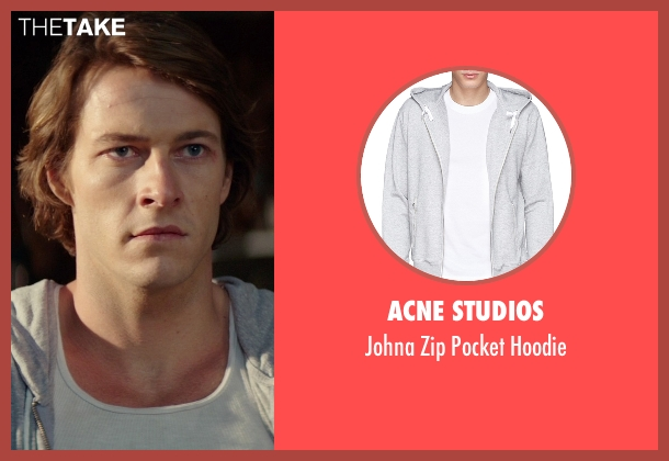 Acne Studios gray hoodie from The Best of Me seen with Luke Bracey (Younger Dawson)