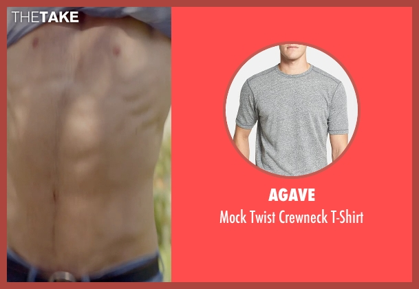 Agave gray t-shirt from The Best of Me seen with Luke Bracey (Young Dawson)