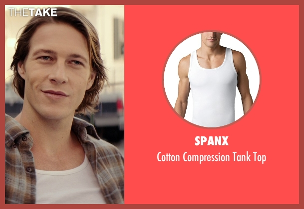 Spanx white top from The Best of Me seen with Luke Bracey (Young Dawson)