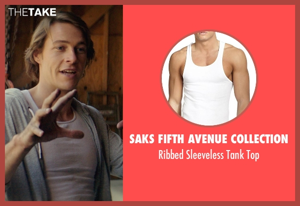 Saks Fifth Avenue Collection white top from The Best of Me seen with Luke Bracey (Younger Dawson)