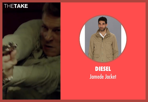 Diesel beige jacket from The November Man seen with Luke Bracey (David Mason)