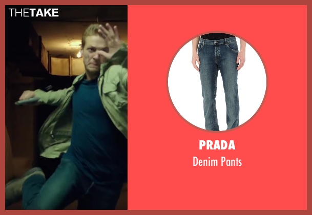 Prada blue pants from The November Man seen with Luke Bracey (David Mason)