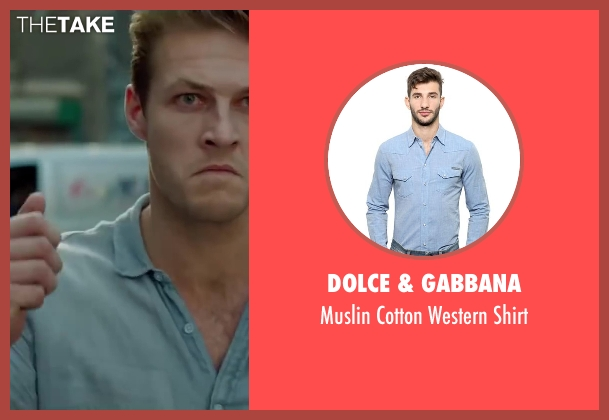 Dolce & Gabbana blue shirt from The November Man seen with Luke Bracey (David Mason)