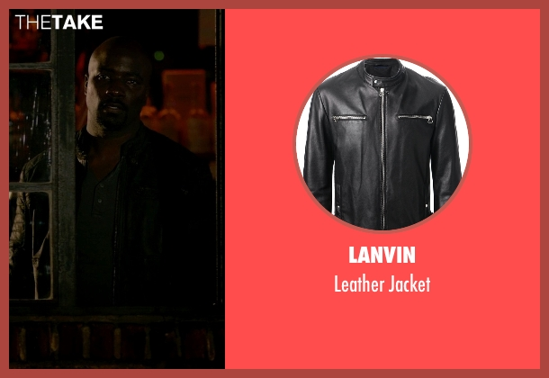 Lanvin black jacket from Jessica Jones seen with Luke Cage (Mike Colter)