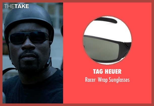 TAG Heuer black sunglasses from Jessica Jones seen with Luke Cage (Mike Colter)