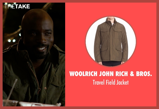 G-Star Raw green jacket from Jessica Jones seen with Luke Cage (Mike Colter)