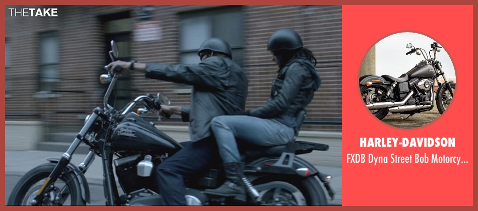 Harley-Davidson motorcycle from Jessica Jones seen with Luke Cage (Mike Colter)