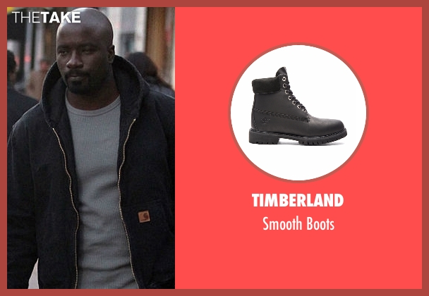 Timberland black boots from Marvel's Luke Cage seen with Luke Cage (Mike Colter)