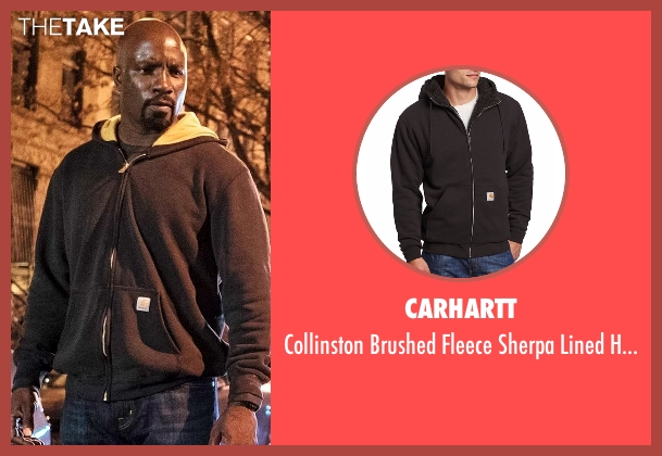 Carhartt black hoodie from Marvel's Luke Cage seen with Luke Cage (Mike Colter)