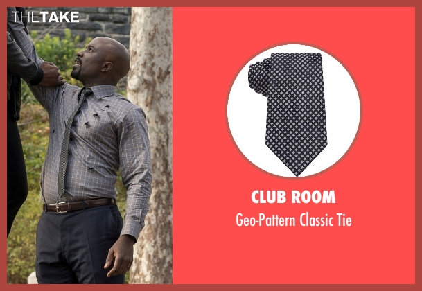 Club Room black tie from Marvel's Luke Cage seen with Luke Cage (Mike Colter)