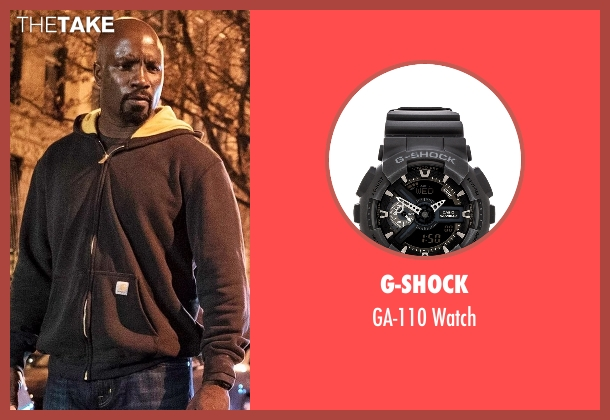 Suunto black watch from Marvel's Luke Cage seen with Luke Cage (Mike Colter)