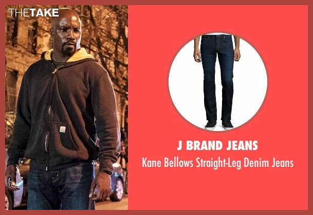 J Brand Jeans blue jeans from Marvel's Luke Cage seen with Luke Cage (Mike Colter)