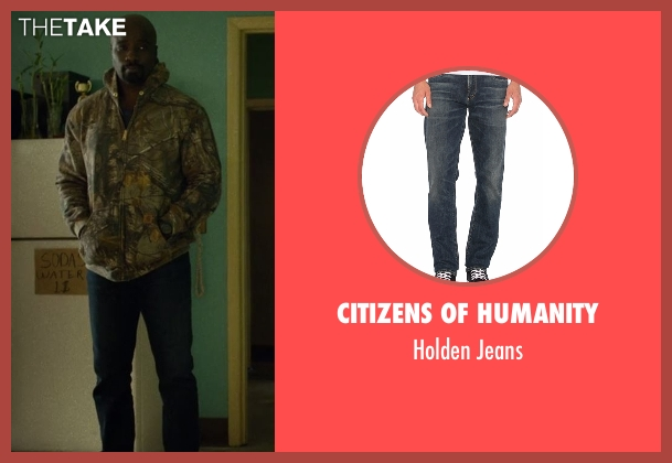 Citizens Of Humanity blue jeans from Marvel's Luke Cage seen with Luke Cage (Mike Colter)