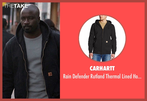 Carhartt gray hoodie from Marvel's Luke Cage seen with Luke Cage (Mike Colter)