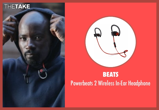 Beats headphone from Marvel's Luke Cage seen with Luke Cage (Mike Colter)