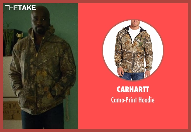 Carhartt hoodie from Marvel's Luke Cage seen with Luke Cage (Mike Colter)
