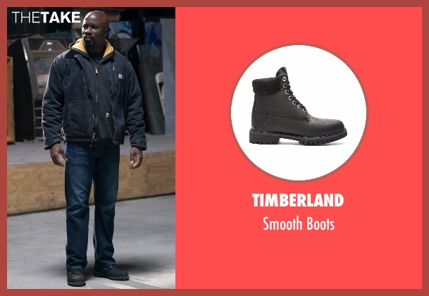 Timberland black boots from Marvel's The Defenders seen with Luke Cage (Mike Colter)