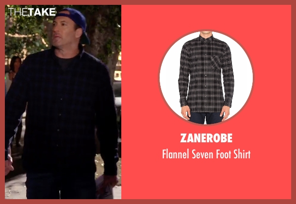 Zanerobe black shirt from Gilmore Girls: A Year in the Life seen with Luke Danes (Scott Patterson)