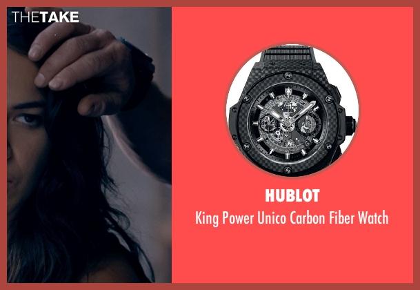 Hublot black watch from Fast & Furious 6 seen with Luke Evans (Deckard Shaw)