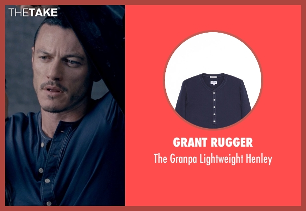Grant Rugger blue henley from Fast & Furious 6 seen with Luke Evans (Deckard Shaw)