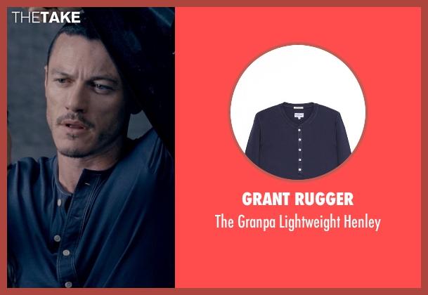 Grant Rugger blue henley from Fast & Furious 6 seen with Luke Evans (Deckard Shaw)