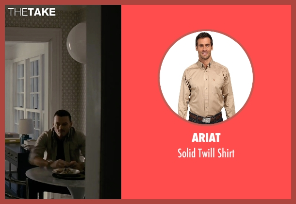 Ariat beige shirt from The Girl on the Train seen with Luke Evans (Scott Hipwell)