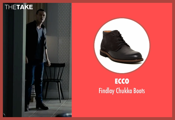 Ecco black boots from The Girl on the Train seen with Luke Evans (Scott Hipwell)