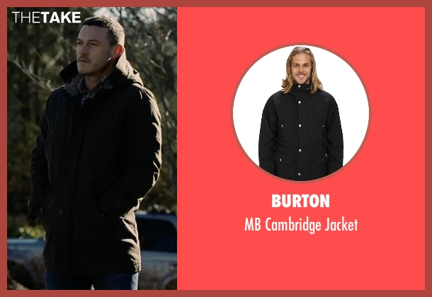Burton black jacket from The Girl on the Train seen with Luke Evans (Scott Hipwell)